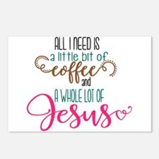 coffee and jesus Postcards (Package of 8)