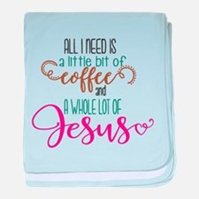 coffee and jesus baby blanket