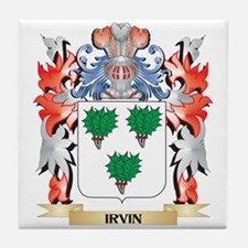 Irvin Coat of Arms - Family Crest Tile Coaster