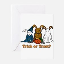 Halloween Rabbits Greeting Cards