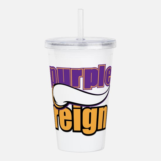 PURPLE REIGN Acrylic Double-wall Tumbler