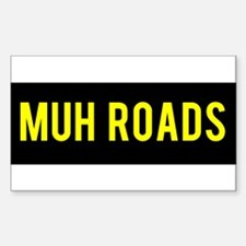 Muh Roads Ancap Libertarian Decal