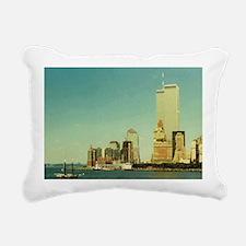 Funny World trade center Rectangular Canvas Pillow