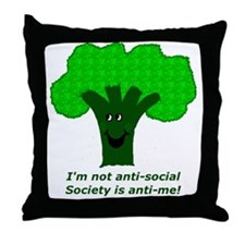 Anti-Social Throw Pillow