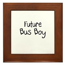 Future Bus Boy Framed Tile
