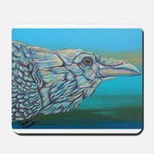 White Rainbow Raven Crow Bird Mousepad