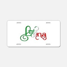 Proud to be a Latina! Aluminum License Plate
