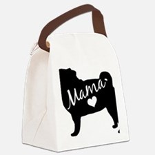 Funny Pug mama Canvas Lunch Bag