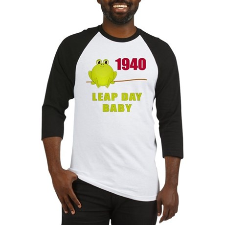 1940 Leap Year Baby Baseball Jersey