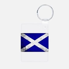 Scotish Flag Grunge Keychains