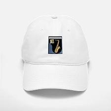 Saxophone Piano Background Baseball Baseball Cap