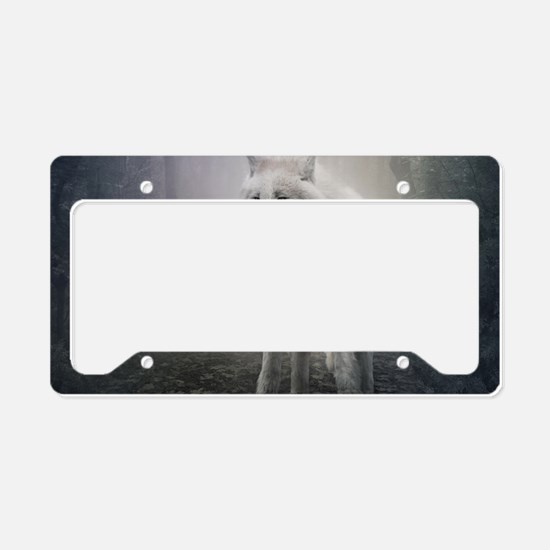 White Wolf License Plate Holder