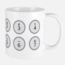 Typewriter Keys 234567 Mugs