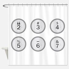 Typewriter Keys 234567 Shower Curtain