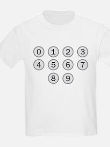 Typewriter Keys Numbers T-Shirt