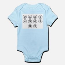 Typewriter Keys Numbers Body Suit
