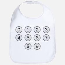 Typewriter Keys Numbers Bib