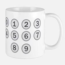 Typewriter Keys Numbers Mugs