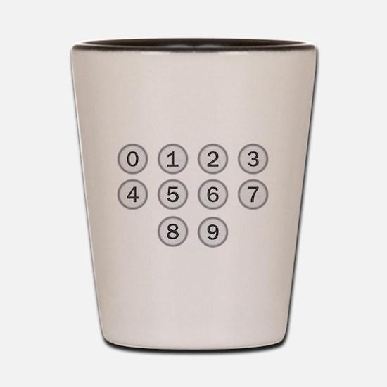 Typewriter Keys Numbers Shot Glass