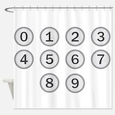 Typewriter Keys Numbers Shower Curtain