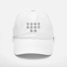 Typewriter Keys Numbers Baseball Baseball Cap