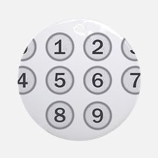 Typewriter Keys Numbers Round Ornament