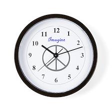 Imagine Peace Wall Clock