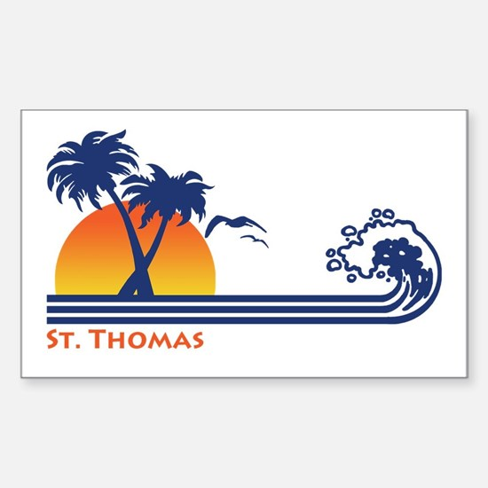St. Thomas Sticker (Rectangle)