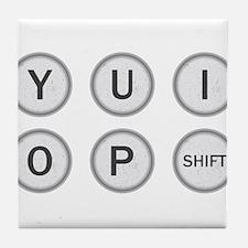 Typewriter Keys YUIOP Tile Coaster
