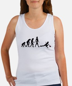 Evolution of woman Curling Tank Top