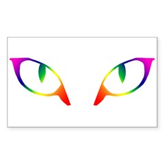 Cat Eyes Rectangle Decal