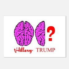 Hillary And Trump Brains Postcards (Package of 8)