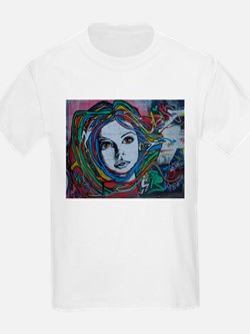 Graffiti Girl with Rainbow Hair T-Shirt