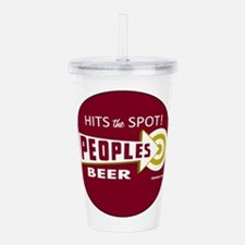 Peoples Beer Logo, red Acrylic Double-wall Tumbler