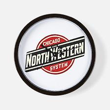 Chicago & Northwestern Angled Wall Clock