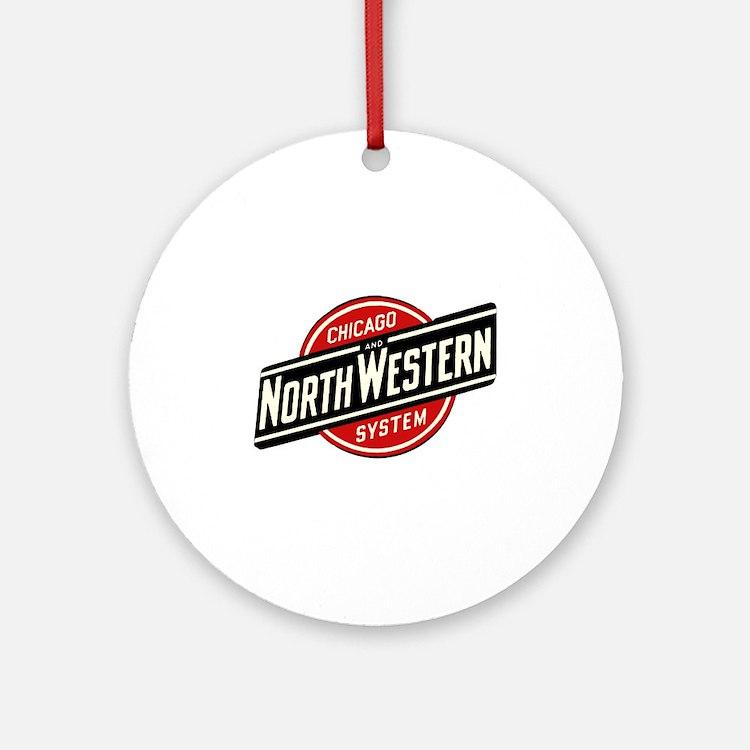 Chicago & Northwestern Angled Round Ornament