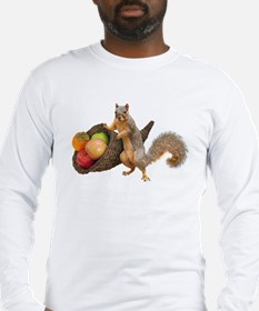 Squirrel with Cornucopia Long Sleeve T-Shirt