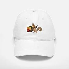 Squirrel with Cornucopia Baseball Baseball Baseball Cap