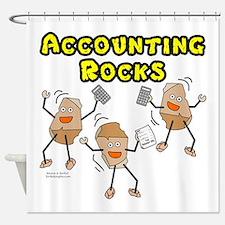 Accounting Rocks Shower Curtain