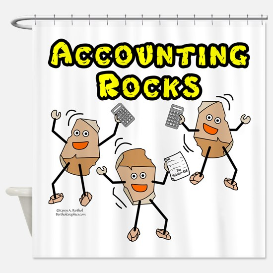 Accounting Rocks Shower Curtain