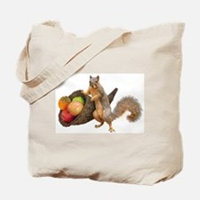 Squirrel with Cornucopia Tote Bag