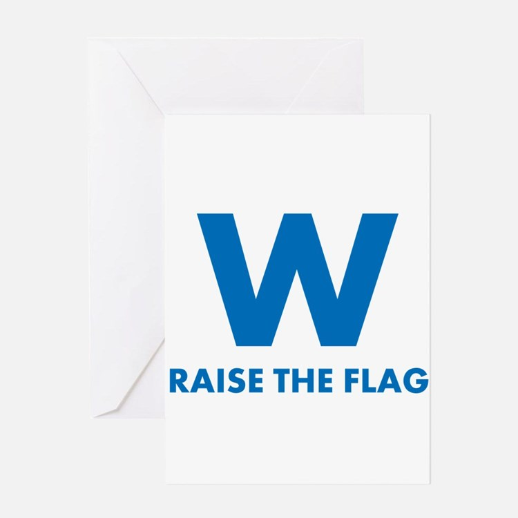 W Raise the Flag Greeting Cards