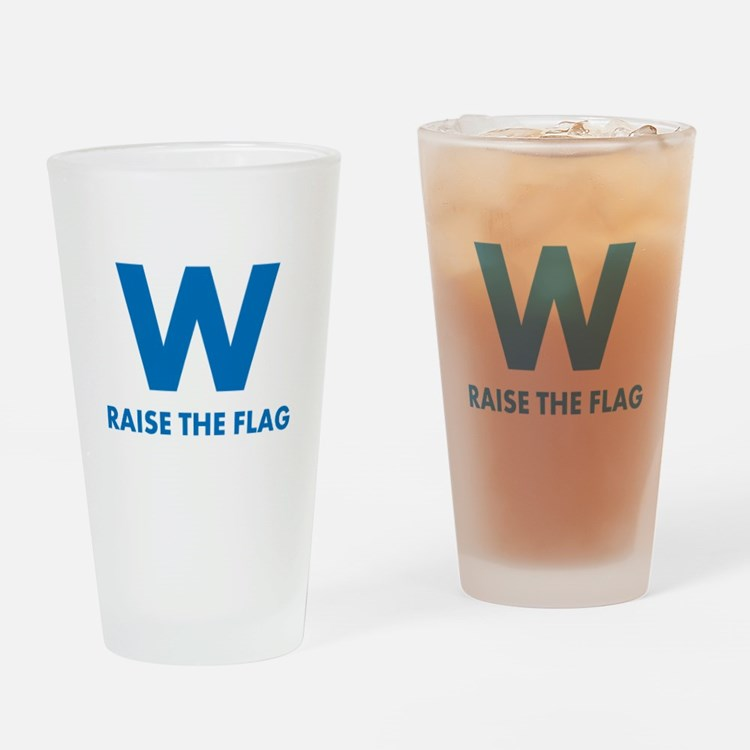 W Raise the Flag Drinking Glass