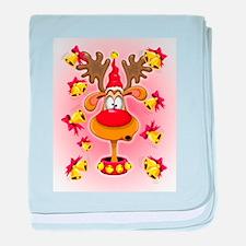 Reindeer Fun Christmas Cartoon with Bells Alarms b