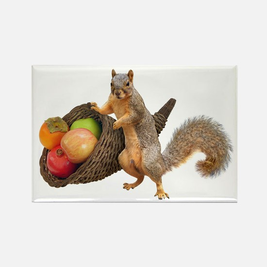 Squirrel with Cornucopia Magnets
