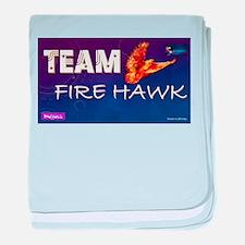 Team Fire Hawk baby blanket