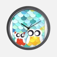 Adult and Child Owl Wall Clock