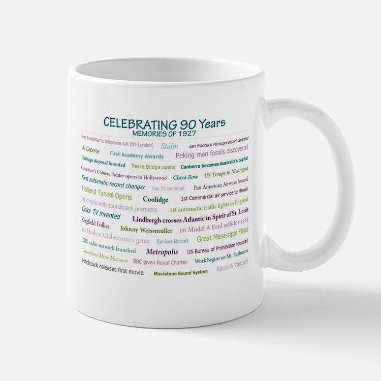 Memories Of 1927 For 90th Milestone Birthday Mugs