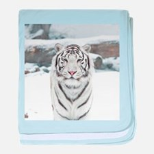 White Tiger baby blanket
