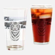 White Tiger Drinking Glass